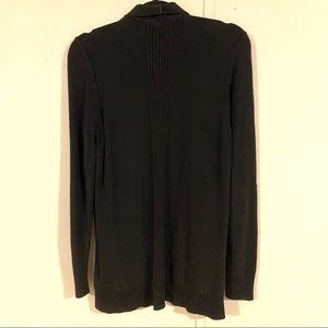 croft & barrow Sweaters - Croft and Barrow Ribbed Black Open Front Cardigan